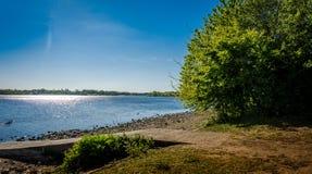 Pennington flash. View over the lake at pennington flash cheshire Royalty Free Stock Image