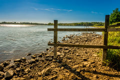 Pennington flash. View over the lake at pennington flash cheshire royalty free stock photography