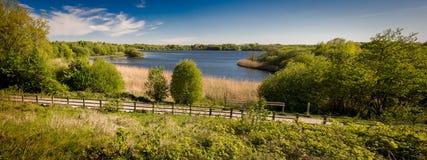 Pennington flash. View over the lake at pennington flash cheshire Stock Photography