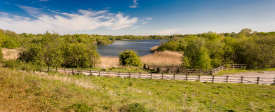 Pennington flash. View over the lake at pennington flash cheshire Royalty Free Stock Photos
