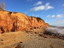 Pennington punkt, Sidmouth fotografering för bildbyråer