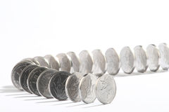 Pennise.Domino effect. Stock Photos