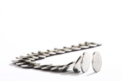 Pennise.Domino effect. Stock Photography