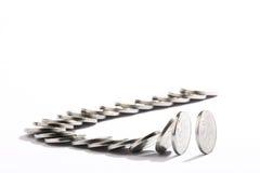 pennise för dominoeffekt Arkivbild