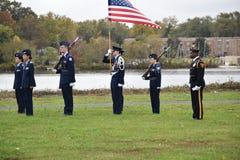 Pennsauken, New Jersey - November 5, 2017: Dit is burgerlijke luchtpatrouille bij deze Dagceremonies van jarenveteranen die bij C stock afbeelding
