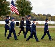 Pennsauken, New Jersey - November 5, 2017: Dit is burgerlijke luchtpatrouille bij deze Dagceremonies van jarenveteranen die bij C stock foto's