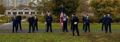 Pennsauken, New Jersey - November 5, 2017: Dit is burgerlijke luchtpatrouille bij deze Dagceremonies van jarenveteranen die bij C royalty-vrije stock afbeeldingen