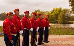 Pennsauken, Nowy Listopad 5, 2017: - bydło - Korpusu piechoty morskiej liga wykonujący przy ten roku weterana ` s dnia ceremoniam Fotografia Stock
