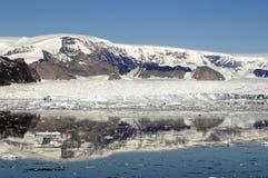 Península antárctica perto de Larsen A Imagem de Stock