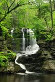 Pennsylania Waterfall In Spring Stock Image