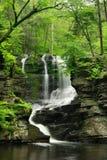 Pennsylania Waterfall In Spring Stock Image