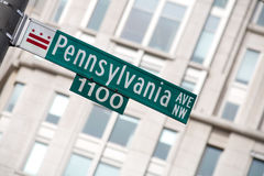 Pennsylvania Avenue Sign. Sign for Pennsylvania Avenue, the street of the White House and other power buildings of the United States Royalty Free Stock Image