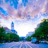 Pennsylvania Avenue sunset in Washington DC Stock Image
