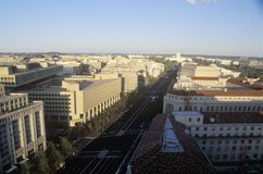 Pennsylvania Avenue to the United States Capitol Building, Washington, D.C. Royalty Free Stock Photos