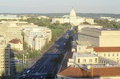 Pennsylvania Avenue to the United States Capitol Building, Washington, D.C. Stock Image