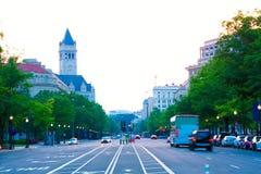 Pennsylvania avenysolnedgång i Washington DC Royaltyfri Foto