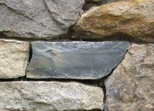 Pennsylvania Bluestonekvarter i en stenvägg royaltyfri fotografi
