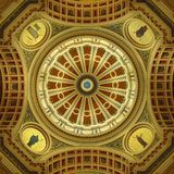 Pennsylvania Capitol Building Rotunda. View is looking directly up at the rotunda dome Stock Photo