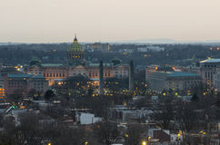 Pennsylvania capitol at sunset royalty free stock image