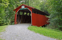 Pennsylvania Covered Bridge. Clay's Covered Bridge is located in Perry County, Pennsylvania, the bridge was built in 1890. It is a Burr-arch truss bridge Stock Photos