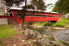 Pennsylvania Paden Red Covered Bridge Royalty Free Stock Photos