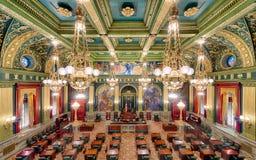 Pennsylvania delstatssenatkammare Fotografering för Bildbyråer