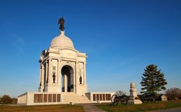 Pennsylvania-Denkmal in Gettysburg Stockfotos