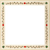Pennsylvania Dutch Christmas Frame Royalty Free Stock Image