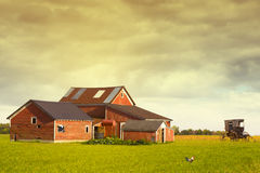 Pennsylvania Farmland. With Rainy Sky Stock Photo