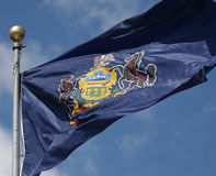 Pennsylvania Flag Stock Photography
