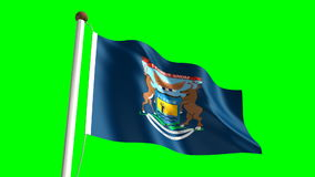 Pennsylvania flag stock video footage