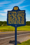 Pennsylvania Gettysburg Campaign Historic Marker Stock Photo
