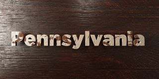 Pennsylvania - grungy wooden headline on Maple  - 3D rendered royalty free stock image Stock Photos