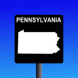 Pennsylvania highway sign Stock Photo