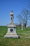 130. Pennsylvania infanterimonument - Antietam nationell slagfält, Maryland Arkivfoton