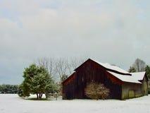 Pennsylvania lantgård i vinter Royaltyfri Fotografi