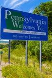 Pennsylvania le acoge con satisfacción muestra de frontera Fotos de archivo libres de regalías