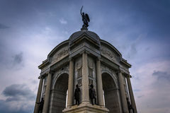 The Pennsylvania Monument in Gettysburg, Pennsylvania. Stock Photo