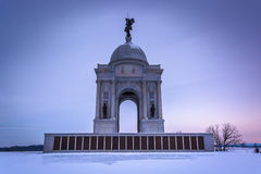 The Pennsylvania Monument during the winter, in Gettysburg, Penn Stock Images