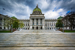 The Pennsylvania State Capitol Building, in downtown Harrisburg, Stock Image
