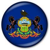 Pennsylvania State Flag Button Stock Photo