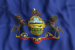 Pennsylvania State flag Royalty Free Stock Image