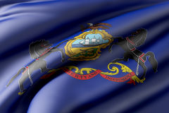 Pennsylvania State flag Stock Photography