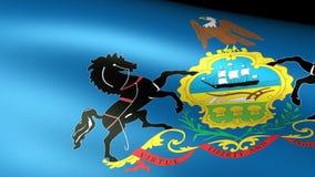 Pennsylvania State Flag Waving. Video footage stock video footage