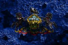 Pennsylvania state grunge flag, United States of America.  Royalty Free Stock Image