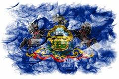 Pennsylvania state smoke flag, United States Of America.  royalty free stock photo