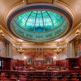Pennsylvania State Supreme Court Chamber. The Supreme Court Chamber in the Pennsylvania State Capitol building in Harrisburg, Pennsylvania Stock Images