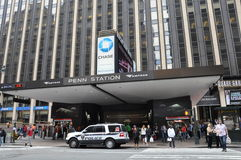 Pennsylvania Station in New York City Stock Images