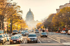Pennsylvania street in Washington DC Royalty Free Stock Images