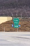 Pennsylvania Turnpike sign Royalty Free Stock Photography